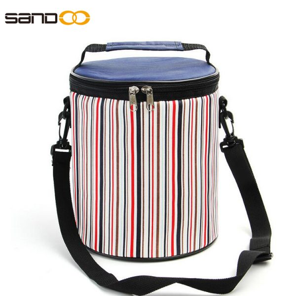 Wholesale round shape cooler lunch bag for kids