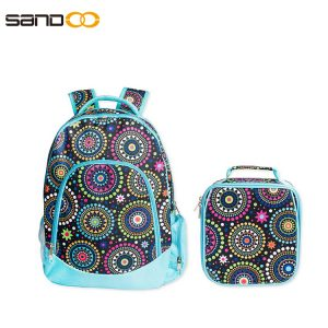 Wholesale Waterproof School Bag 2 pieces Set For Girl