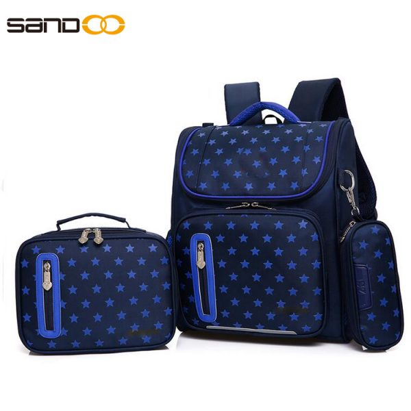 Ergonomic Design Waterproof 3pcs School Bag Set