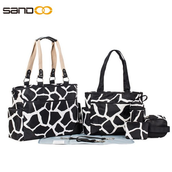 Wholesale Fashion 6pcs Diaper Bag Set