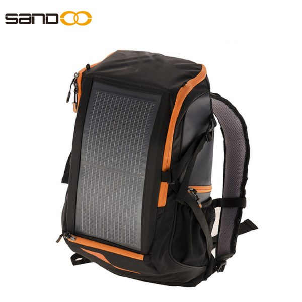 Wholesale fashion outdoor 30L solar backpack