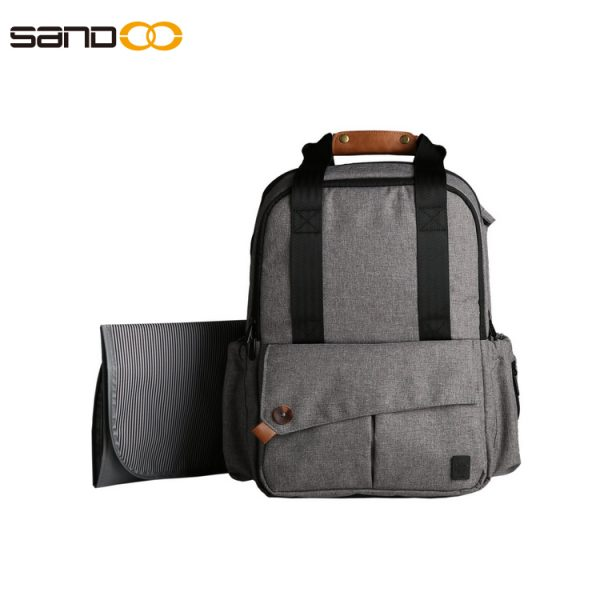 Multi-function Diaper Backpack With Baby Changing Mat