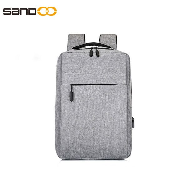 Light weight waterproof laptop backpack with USB charging