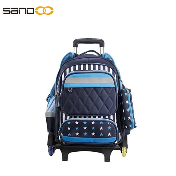 Wholesale six wheels Trolley school backpack
