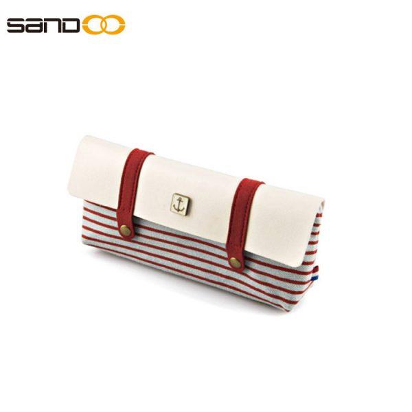 Fashion design pencil pouch bag made form canvas