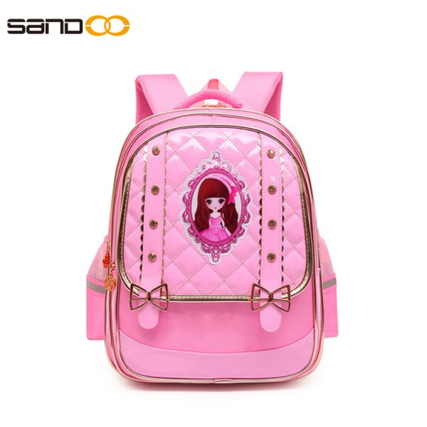 cute barbie school backpack for primary girls