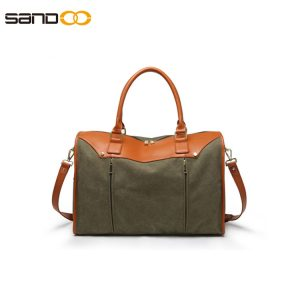 Fashion design canvas duffel bag for men