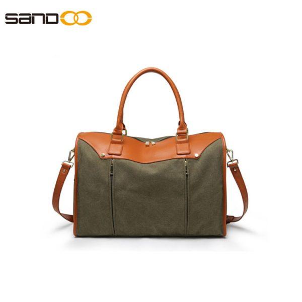 Fashion design canvas duffel bag for men