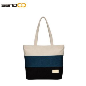 Wholesale fashion canvas handbag for lady