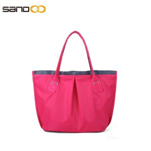 Fashion design nylon handbag for lady