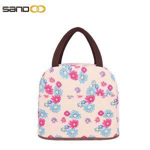 Wholesale Flower Design Cotton Lunch Bag