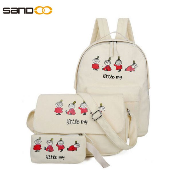Cartoon Three Piece Suit School Bag Set For boys or girls.