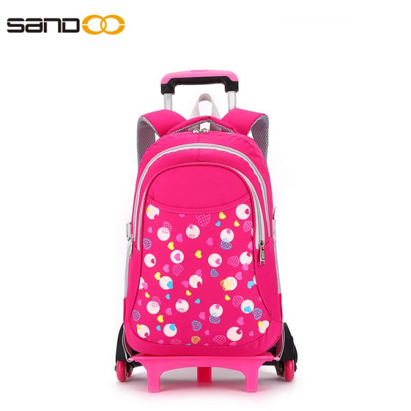 six wheels Trolley school backpack for kids