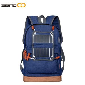 Outdoor Fashion Lightweight Solar Backpack With LED Light
