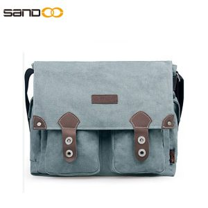 Canvas Messenger School Bag For University Student
