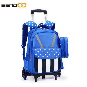 Ergonomic Design Six Wheels Trolley School Backpack