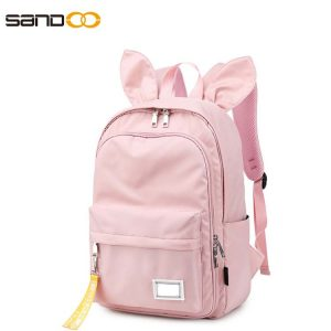 Cute rabbit ears school backpack for students
