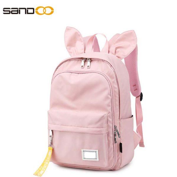 Cute rabbit ears school backpack for students