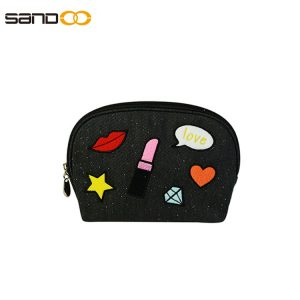 Trendy design small embroidered make up bag