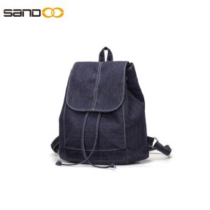 Wholesale japanese style simple design canvas backpack.