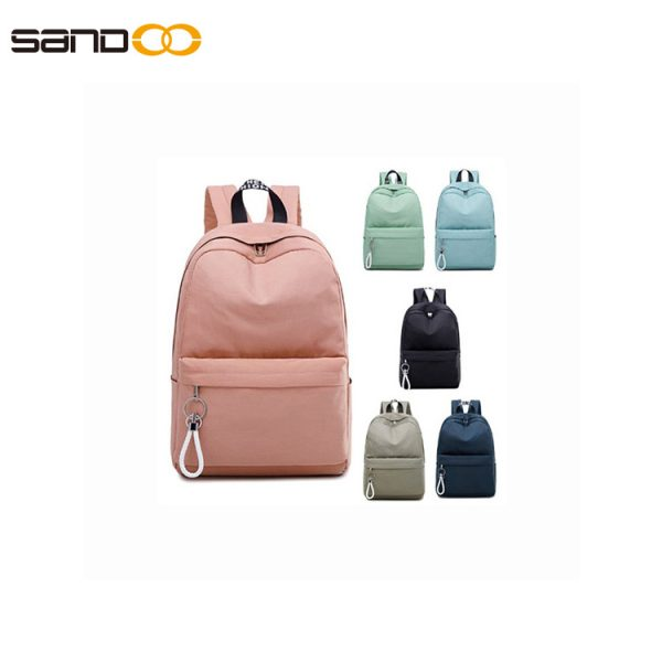 College wind backpack girl waterproof high school student bag LOGO custom