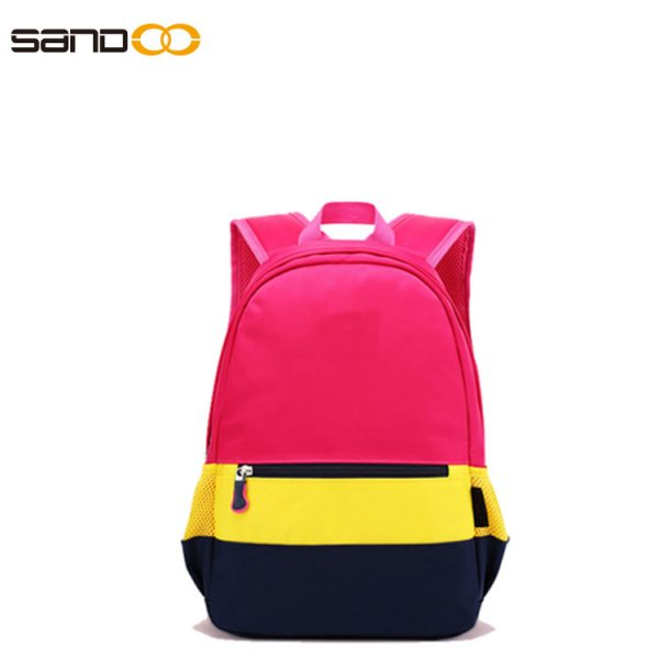 Colorful design school backpack for boys and girls