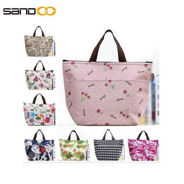 Korean multi-function portable thick padded insulated lunch bag cooler ice bag
