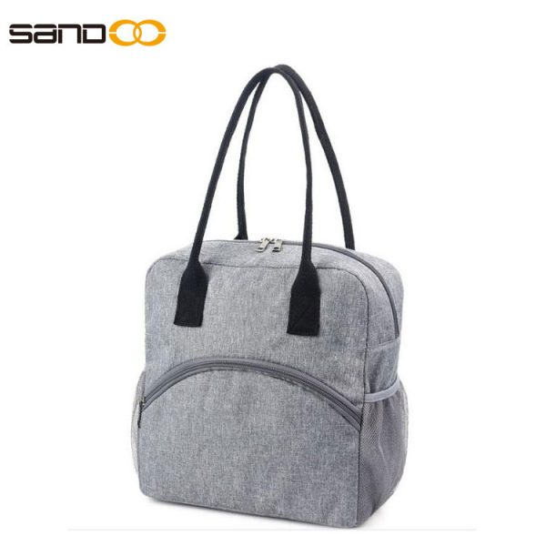 Leak proof Reusable Insulated Cooler Lunch Bag - Office Work Picnic Hiking Beach Lunch Box Organizer with two mesh side pockets