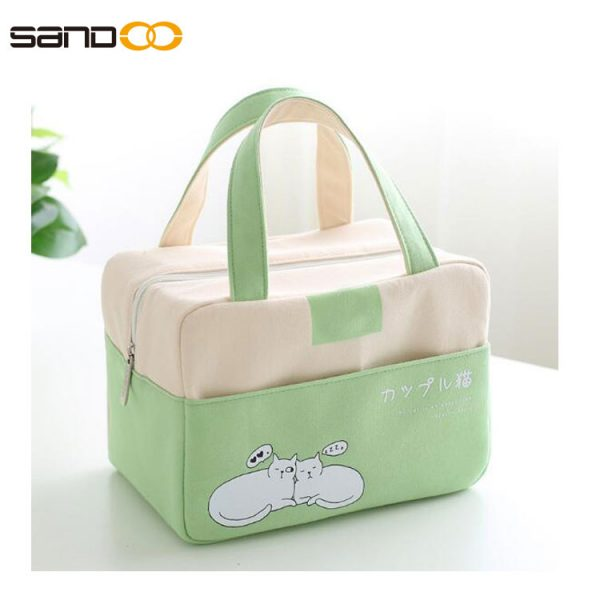 Insulated Lunch Bag, Leak proof Cooler Lunch Box , Washable Outdoor Adult Cooling Food Organizer