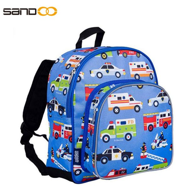 Cute carton 12 Inch Backpack, two pockets Pack 'n Snack for children