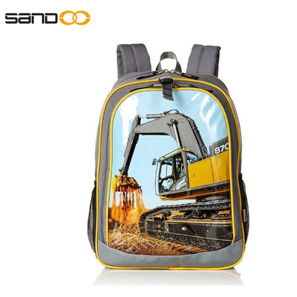 Cute carton grab children backpack , customized school bag for student