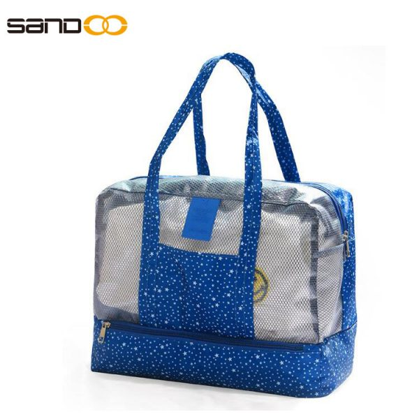 dry and wet separation Beach bag for men and women ,waterproof large capacity bathing bathrobe bag ,seaside swimming equipment storage bag