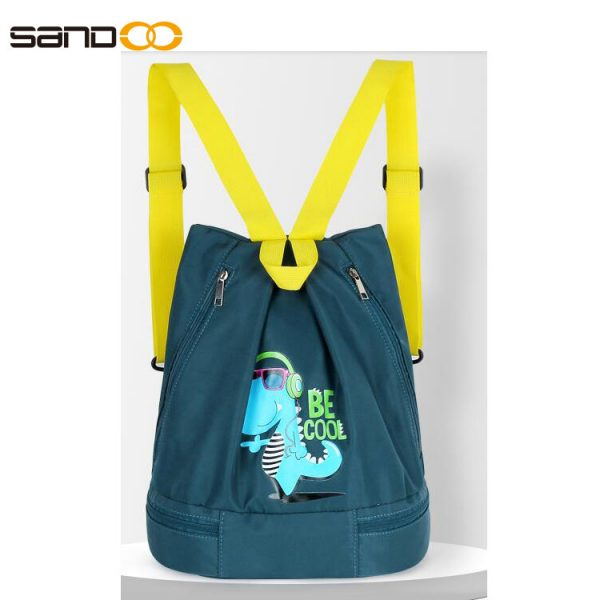 Children dry and wet separation swimming bag, unisex waterproof travel beach backpack, fitness storage bag swimming supplies