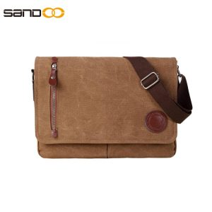"Vintage Canvas Satchel Messenger Bag for Men Women,Travel Shoulder bag 13.5"" Laptop Bags Bookbag"