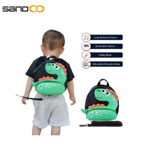 Cute Cartoon Dinosaur Backpack with Safety Harness Leash Anti-Lost Harness Toddler Backpack For Children