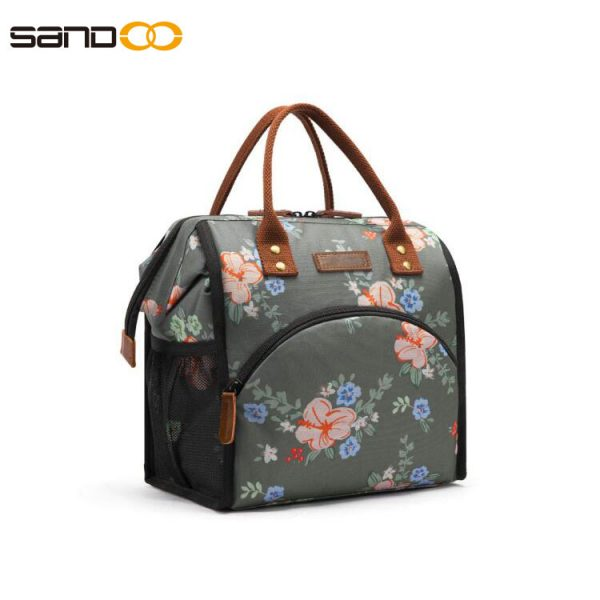 Wide-Open Lunch Tote Bag Large Drinks Holder Durable Insulated Lunch Bag